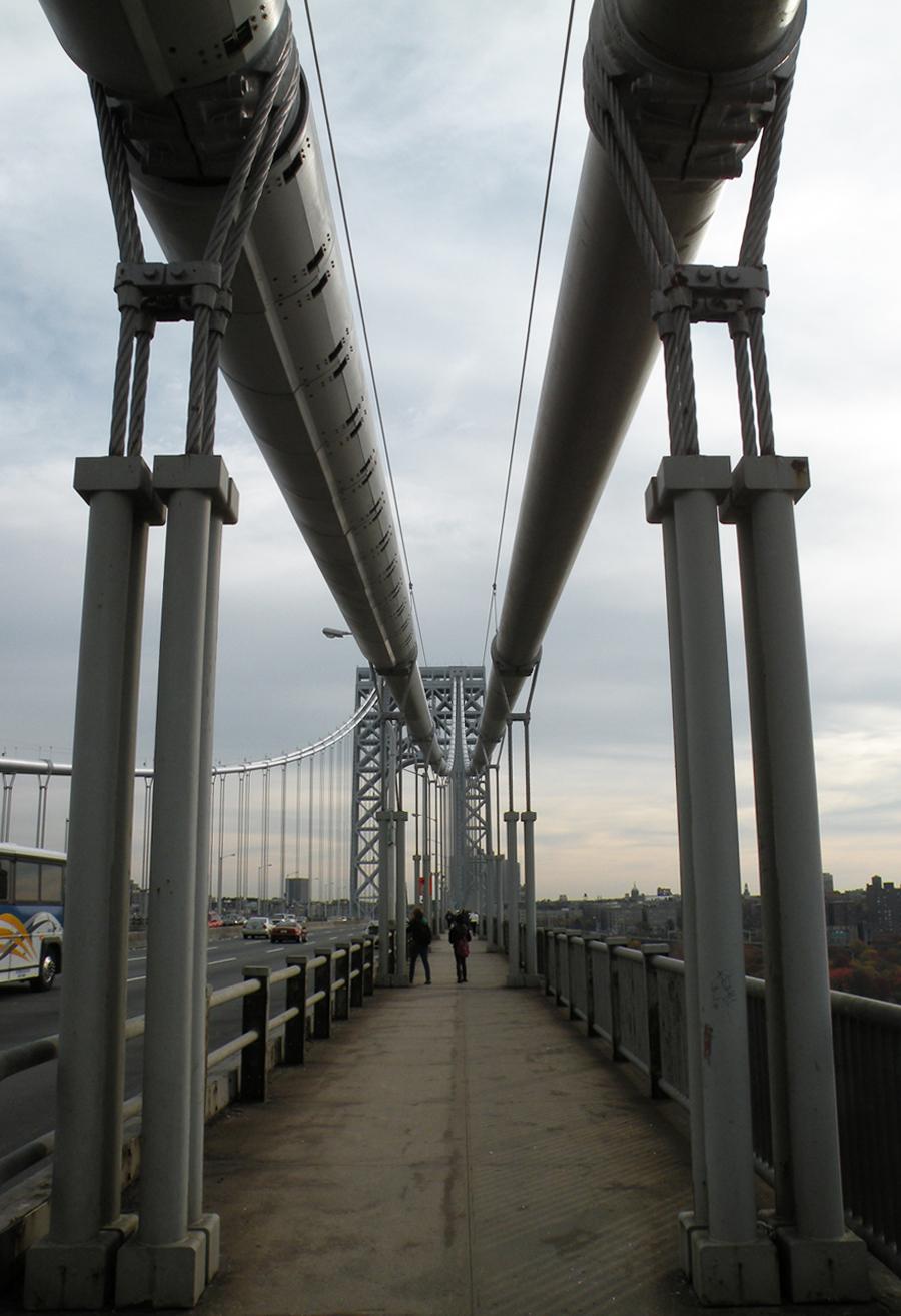 Suspender ropes on the George Washington Bridge. Photo by Evan Bindelglass.