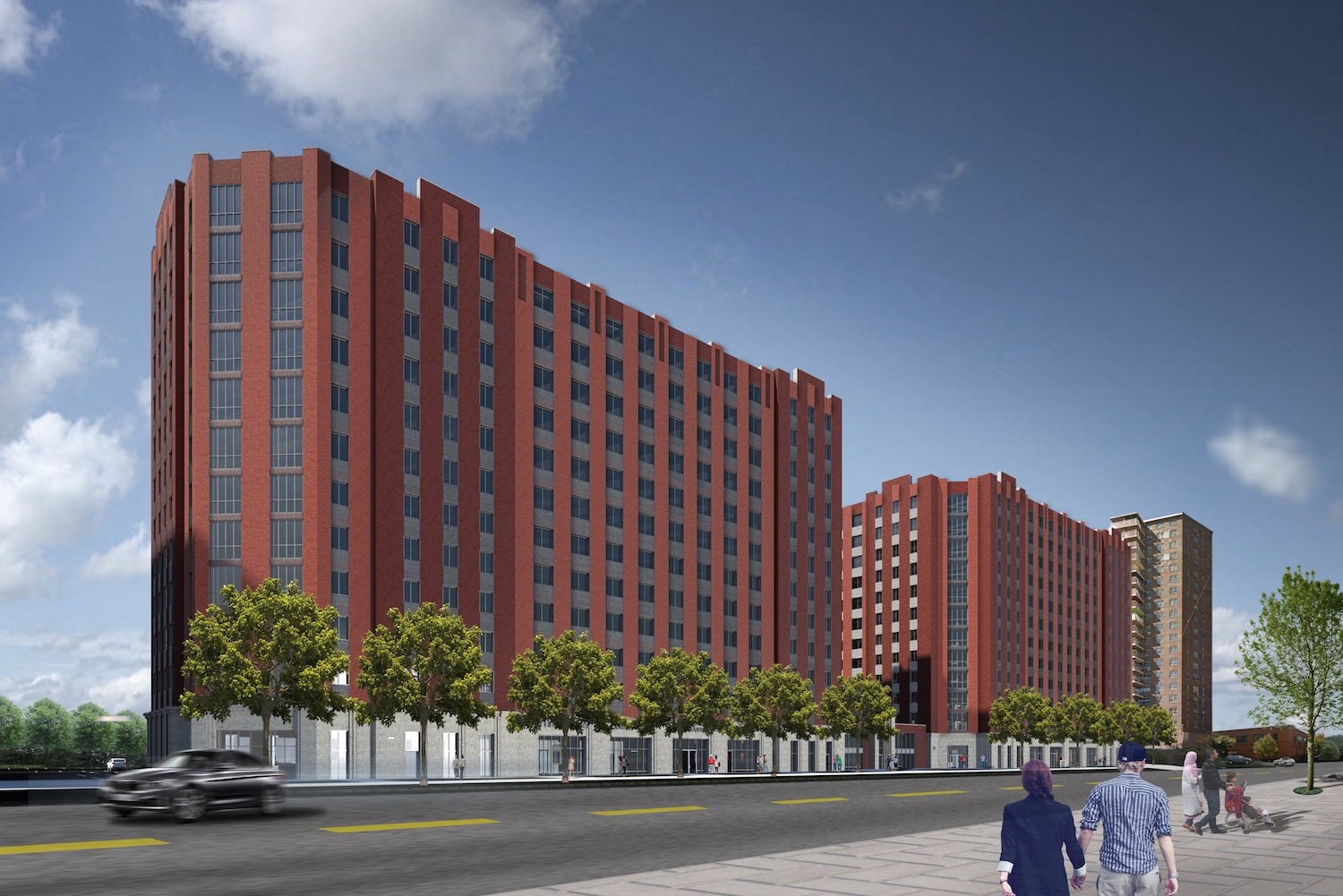 1520 and 1530 Story Avenue. rendering by Curtis + Ginsberg Architects