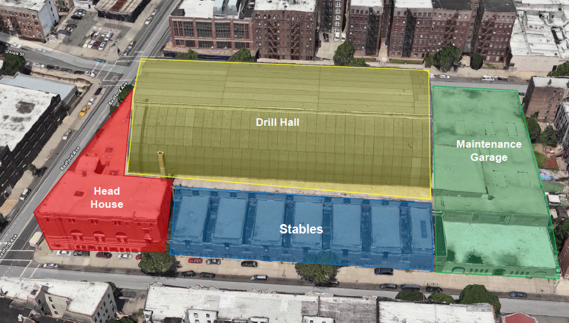 Diagram of the Bedford Union Armory via BFC Partners