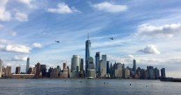Lower Manhattan, with 3 World Trade Center under construction. Photo by JC_Heights via YIMBY Forums.