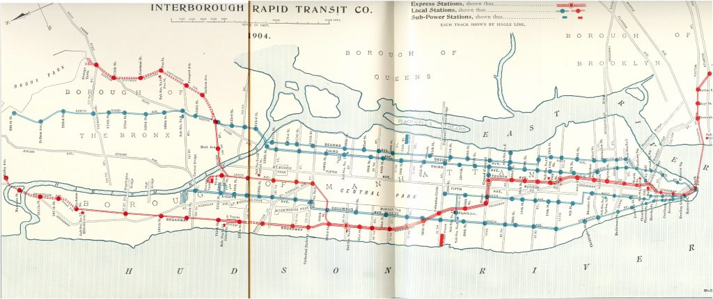 NYC Elevated Trains in 1904