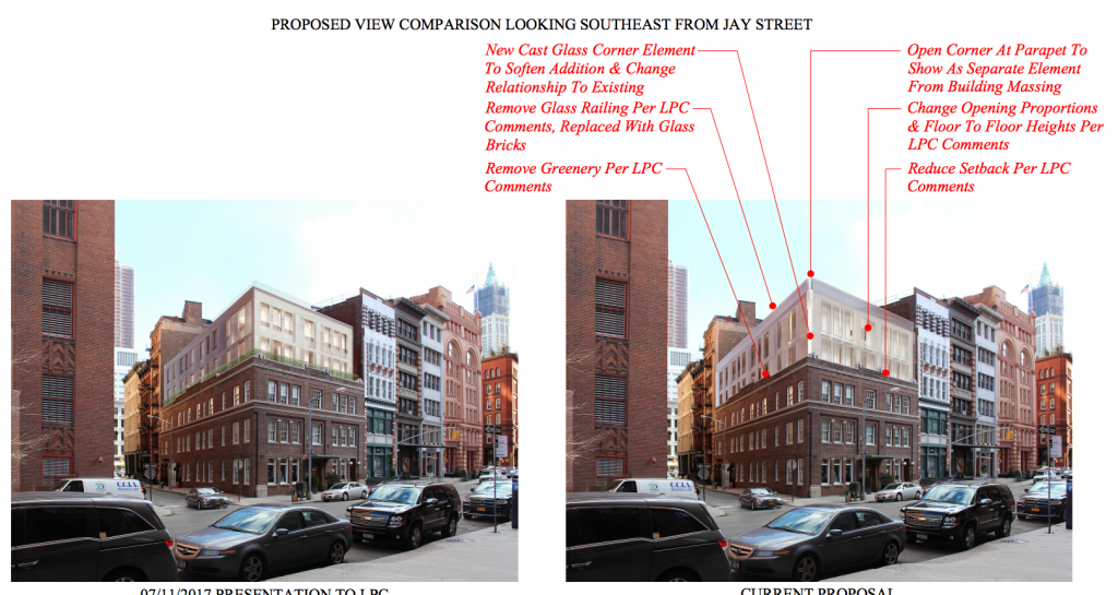 50 Hudson Street, before/after