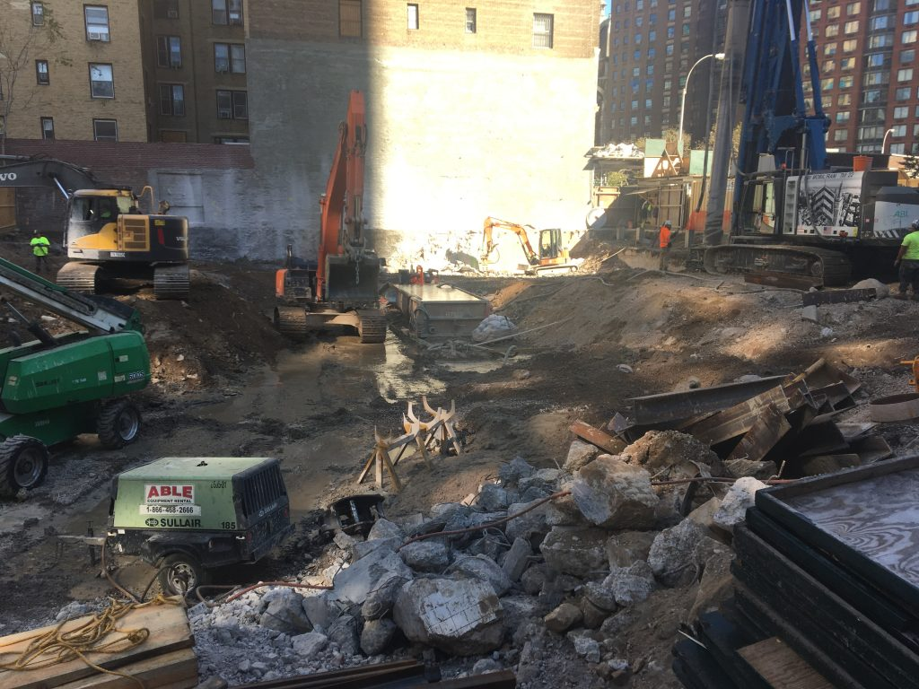 200 Amsterdam Avenue Excavation October