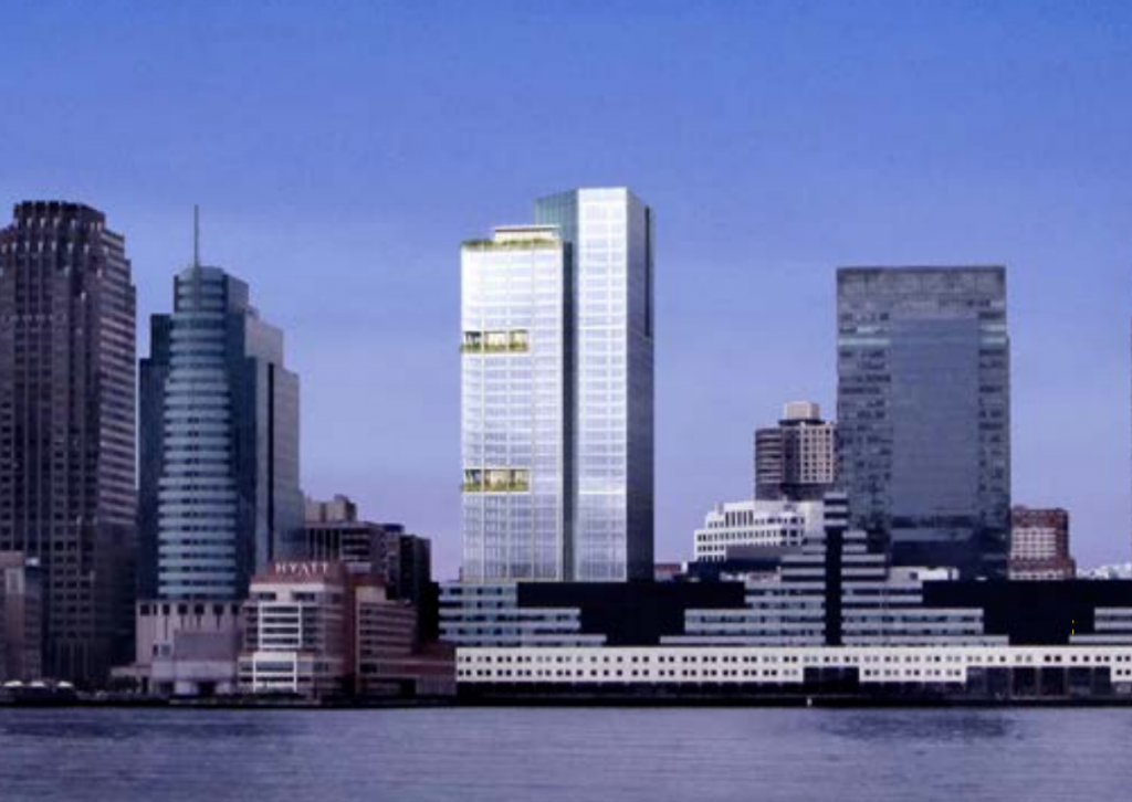 136 Greene Street/Harborside Tower, image via Mack-Cali/SJP Properties