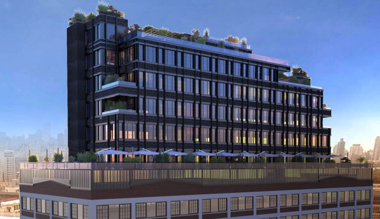 Renderings revealed for paper factory hotel in long island for Jackson terrace yonkers ny