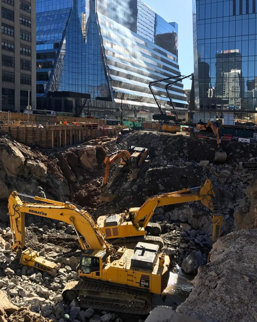 50 Hudson Yards excavation, photo by @hagen_scutt