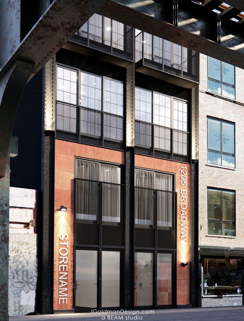 1205 Broadway street view, rendering by Beam Group
