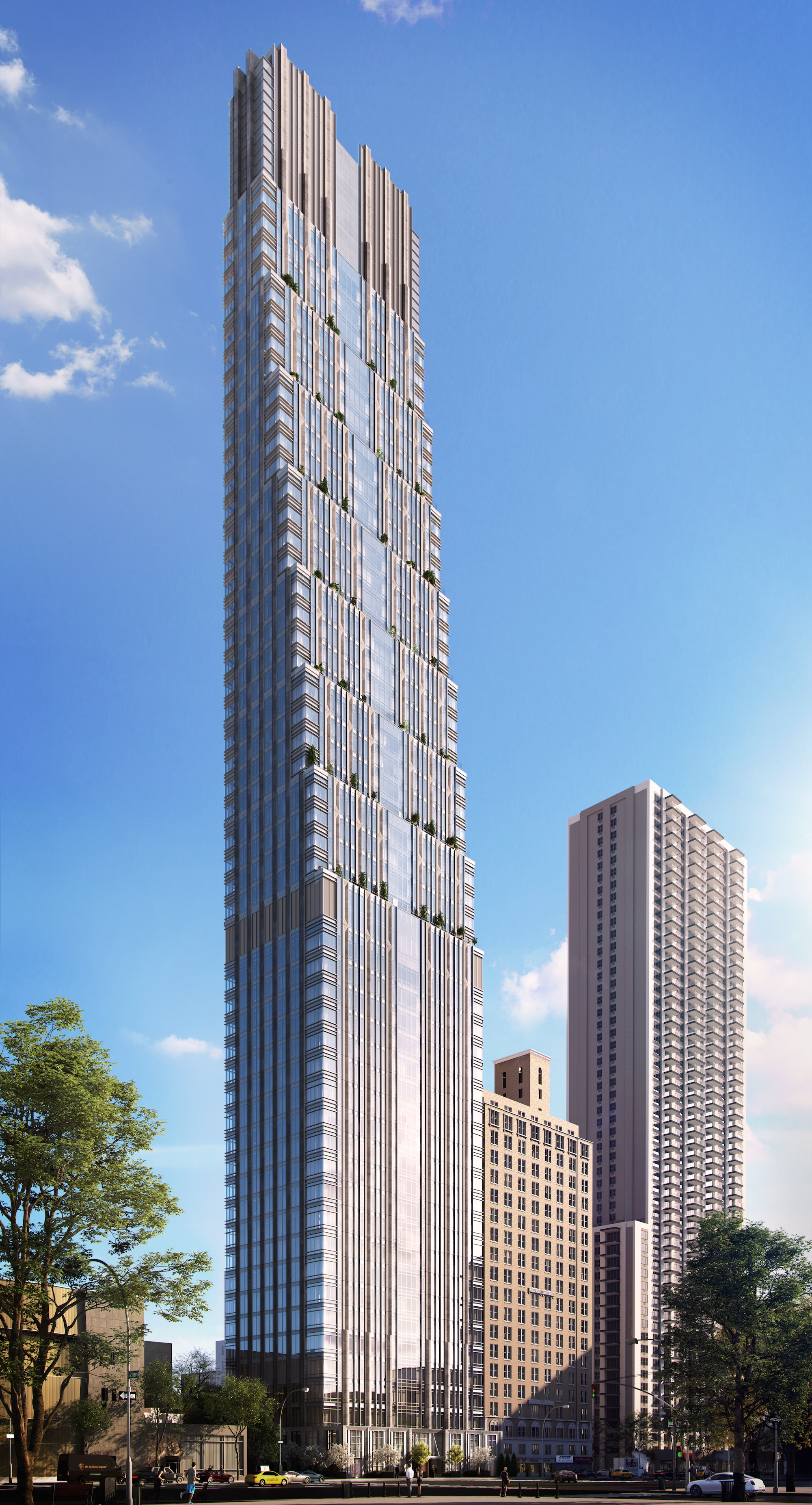 Renderings Reveal Crown of 55-Story Art Deco-Inspired 200 Amsterdam Avenue, Upper West Side