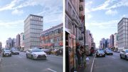 419 Broadway, (Left) Design Proposed October (Right) Accepted Design, rendering by Morris Adjmi