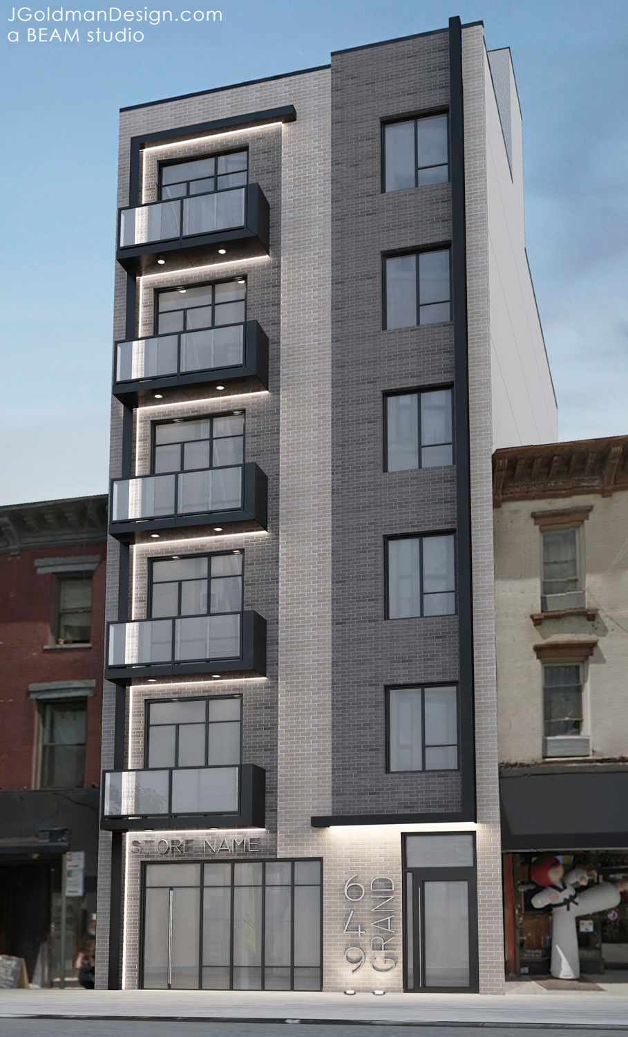 649 Grand Street, rendering by Beam Group