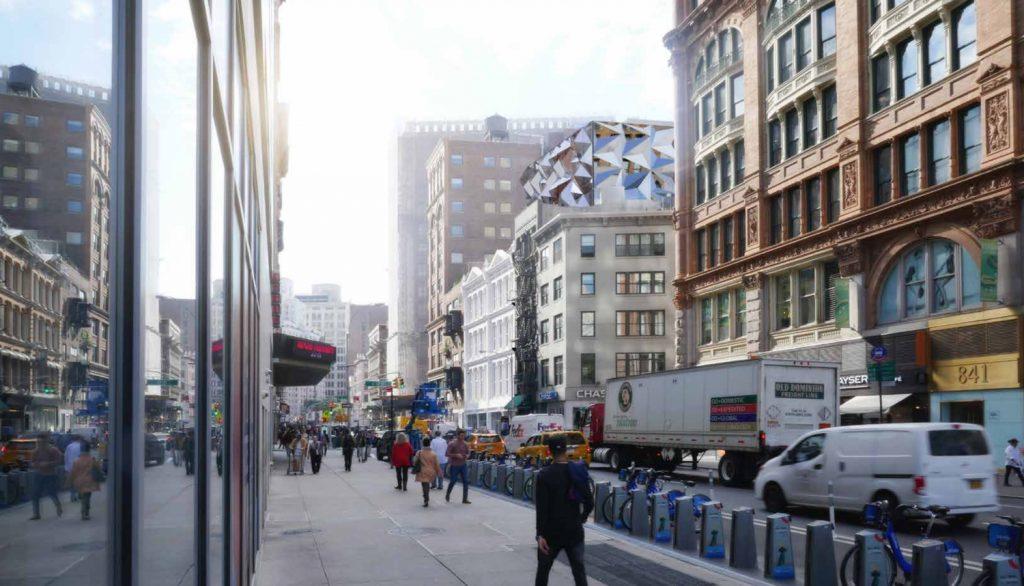 827-831 Broadway, rendering by DXA Studio