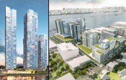 115 River Road at left, 615 River Road at right, left image via Fred Dabies, right image by FXFOWLE
