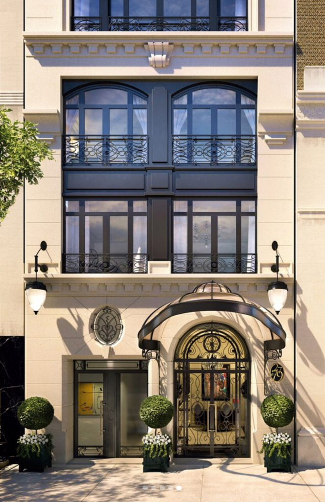 Entrance at 27 East 79th Street, rendering by H.T.O. Architects