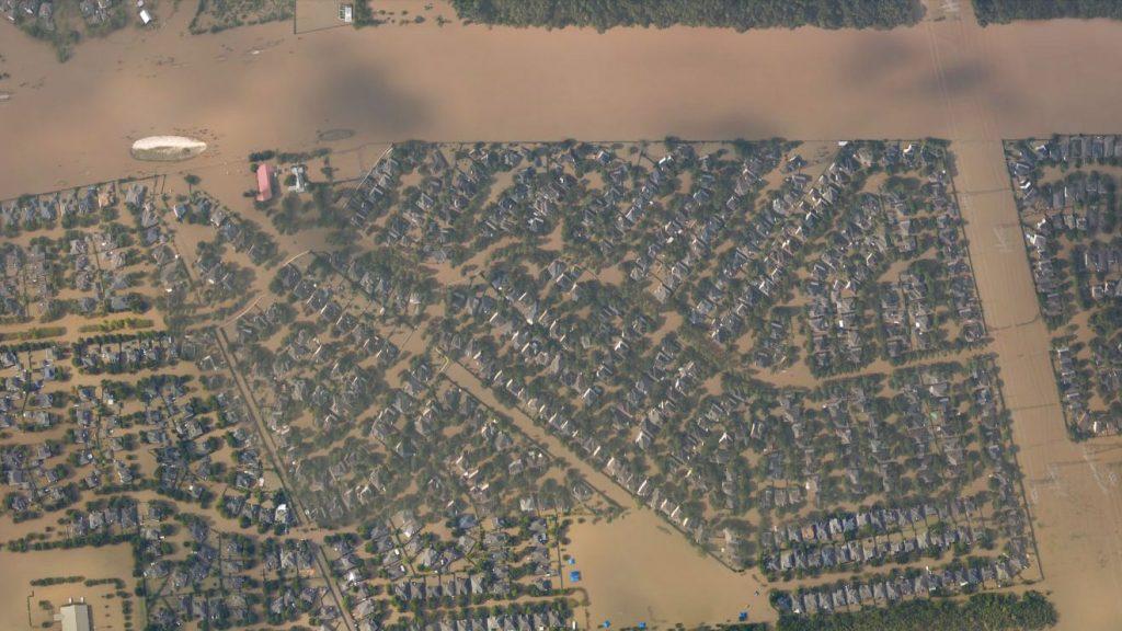 Hurricane Harvey's flooding in Houston, image by NOAA