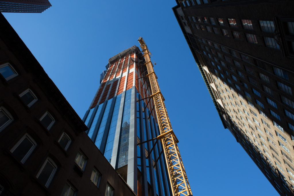 Looking up at 277 5th Avenue, image by Andrew Campbell Nelson