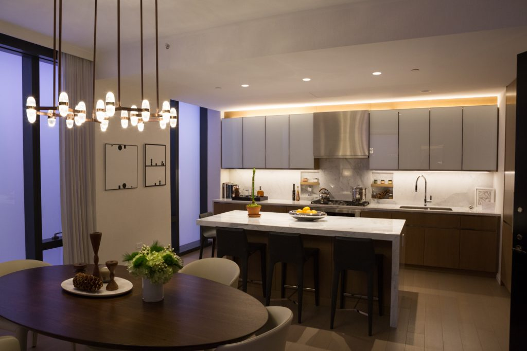 Mockup Kitchen for a Two-Bedroom unit in 277 5th Avenue, image by Andrew Campbell Nelson