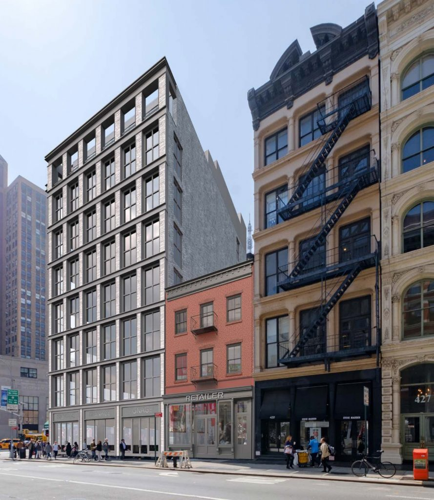 New Design for 419 Broadway, renderng by Morris Adjmi