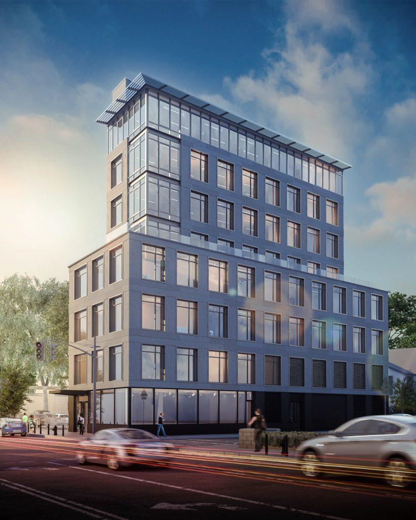 Old rendering of1 36-21 Hillside Avenue, rendering by Issac & Stern PC