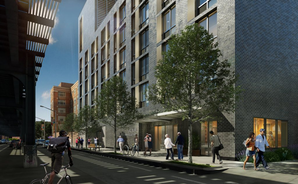 Street view of 1490 Southern Boulevard, rendering by Bernheimer Architecture