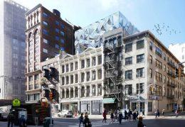 Street view of 827-831 Broadway, by DXA Studios