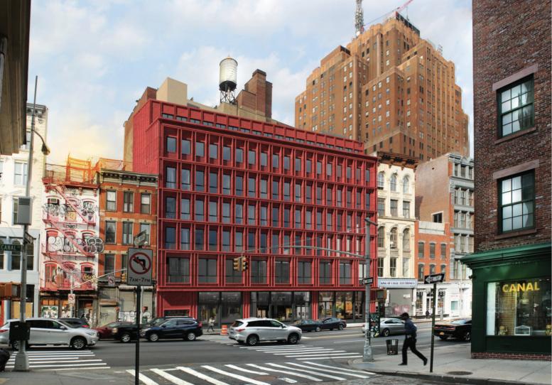 Red Terra Cotta Exterior Revealed After 312 322 Canal Streetu0027s Major Design  Update, Tribeca