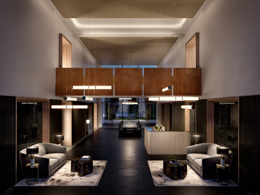 411 West 35th Street Lobby, Rendering by Binyan Studios