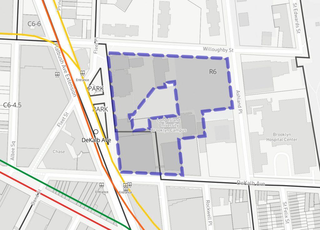 61 DeKalb Avenue, via NYC Planning ZoLa