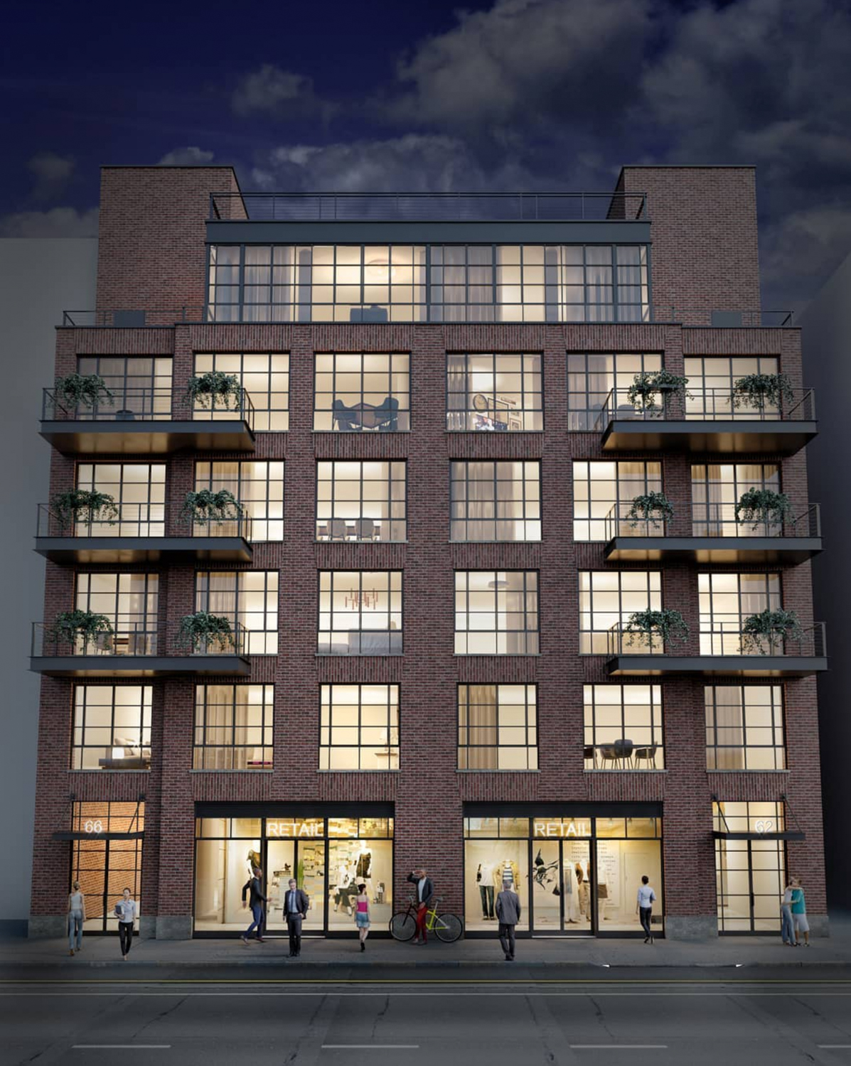 62-66 North Third Street, rendering by MNS