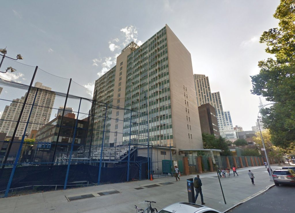Conolly Residence Hall on lot of 61 DeKalb Avenue, via Google Maps
