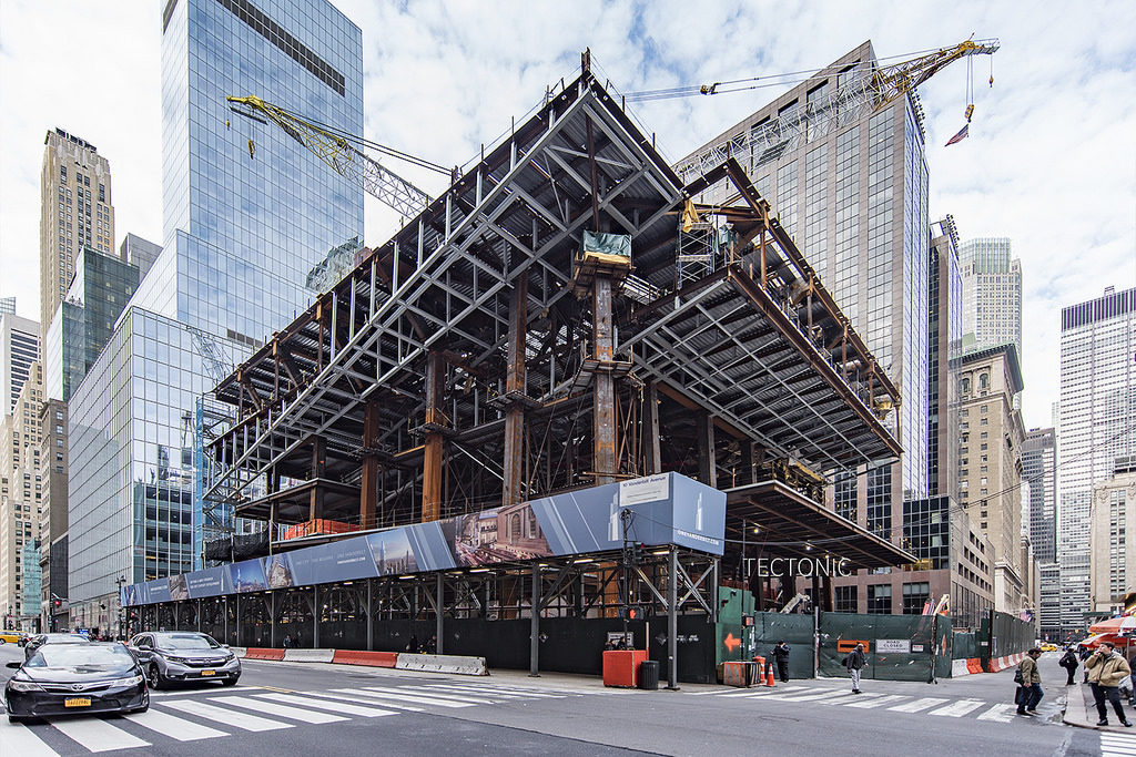 One Vanderbilt Construction Update, from East 42nd Street and Vanderbilt Avenue, image by Tectonic