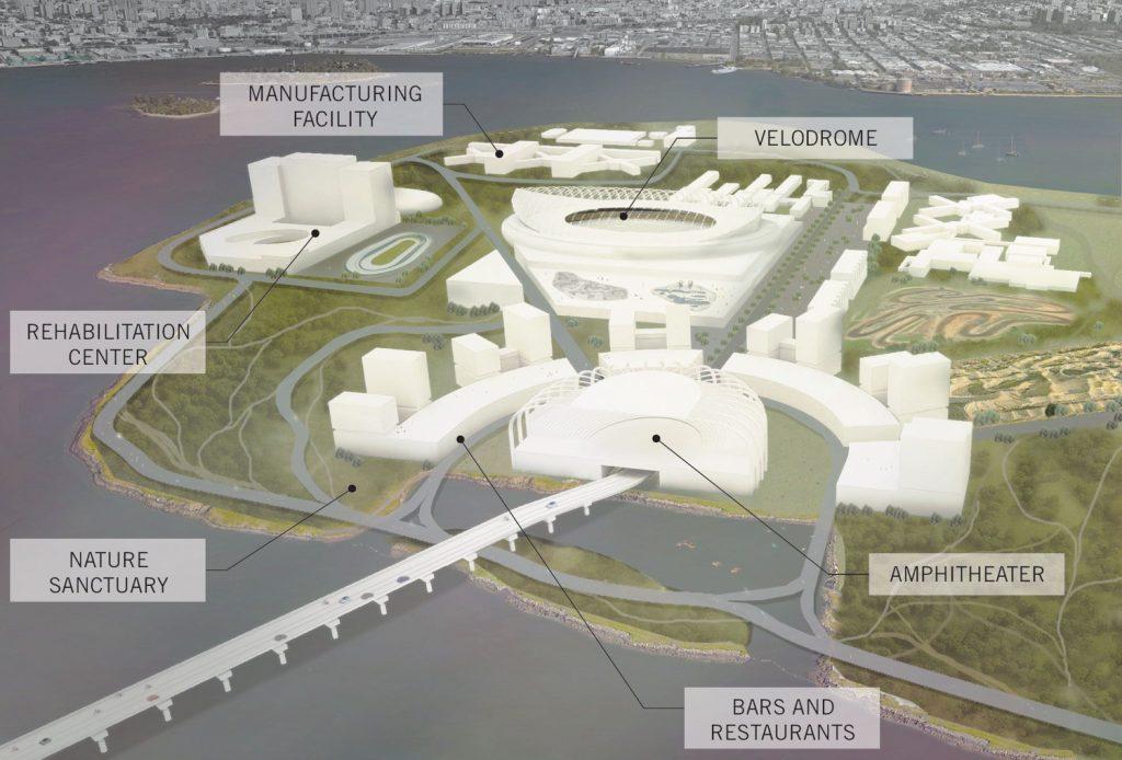 Perkins + Will's Biker Island Proposal
