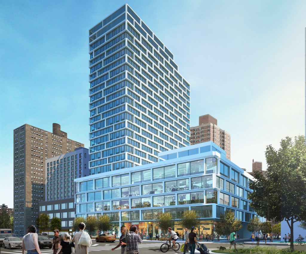 Site 4 North of Essex Crossing, 180 Broome Street, rendering by Handel Architects