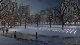 Whiteout on Oval Lawn, rendering by Edwin Redl