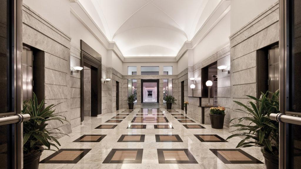 Lobby at Heron Tower, courtesy Cushman & Wakefield