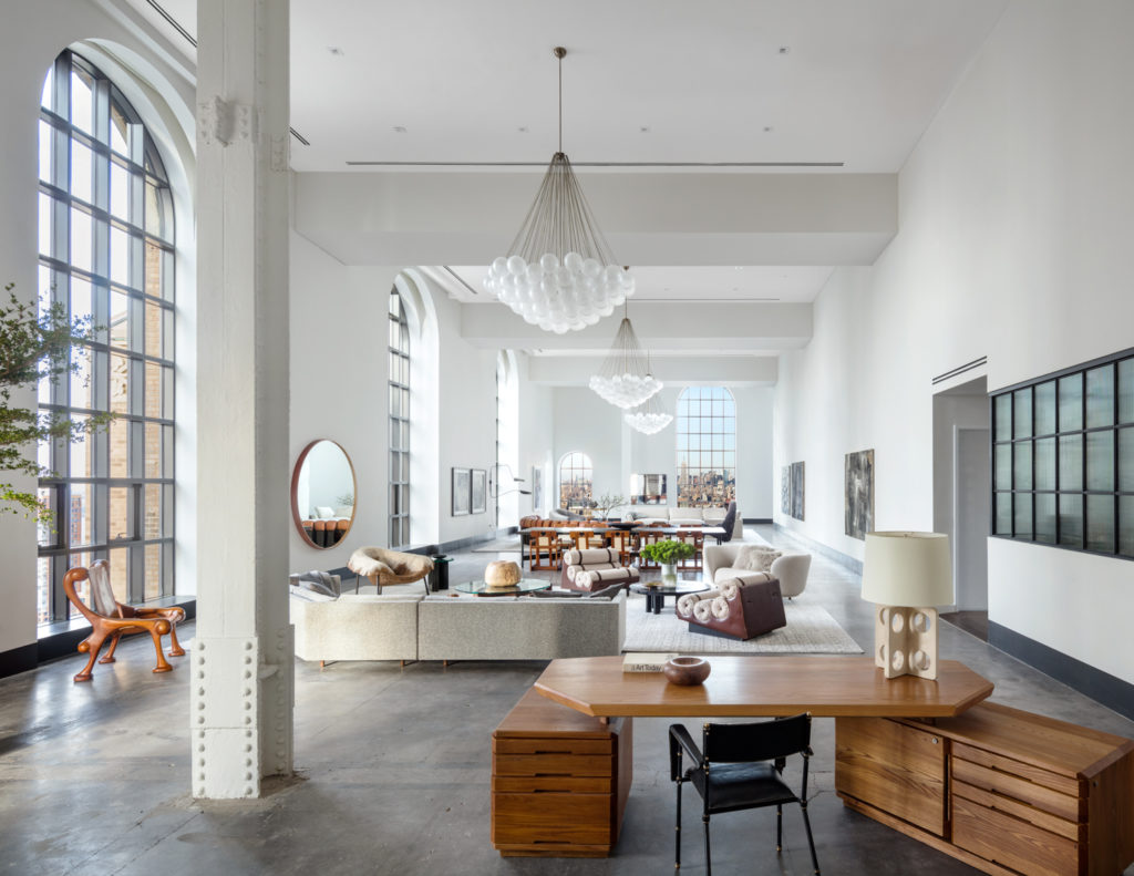 100 Barclay Street Penthouse Living Room North, image by Scott Frances