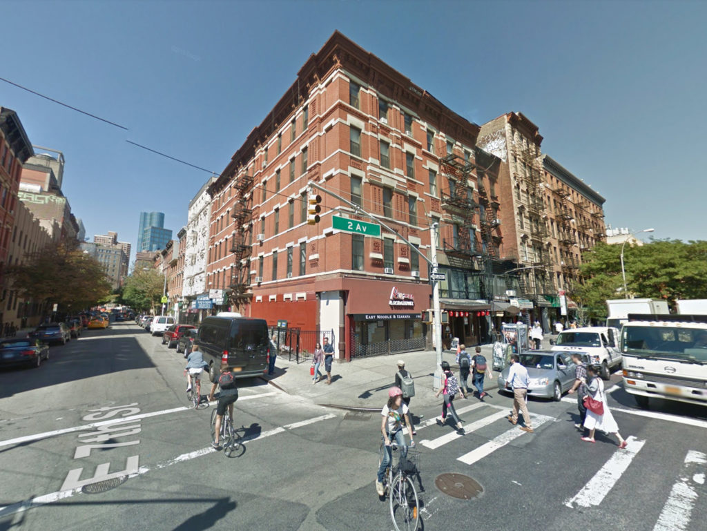 119 Second Avenue in 2014, via Google Maps