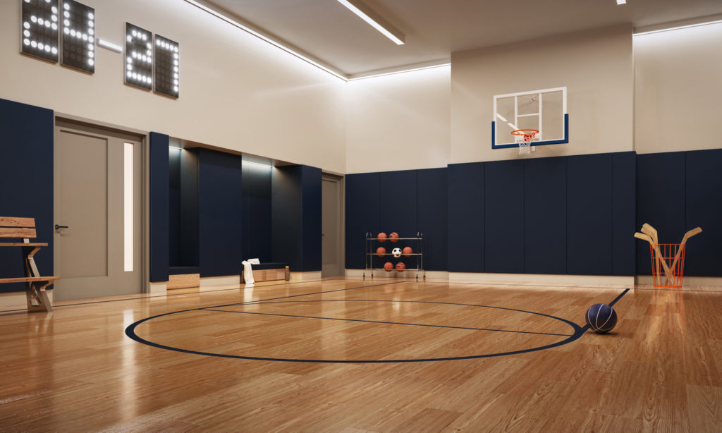 250 West 81st Street Basketball Court, rendering by Williams New York, design by Robert A.M. Stern Architects