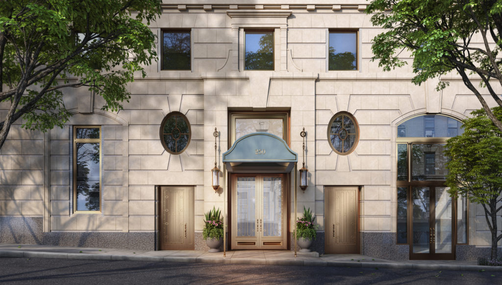 250 West 81st Street Main Entrance, rendering by Williams New York, design by Robert A.M. Stern Architects