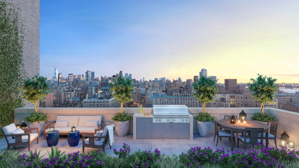 250 West 81st Street Rooftop Terrace, rendering by Williams New York, design by Robert A.M. Stern Architects