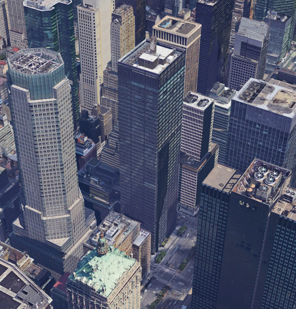 270 Park Avenue, via Google Satellite