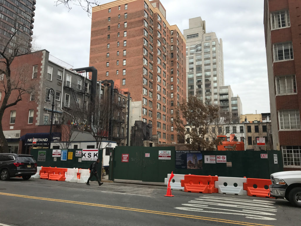 511 East 86 Street Site, images taken Late January
