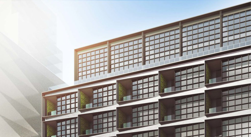 519 West 29 Street facade closeup, rendering courtesy Six Sigma