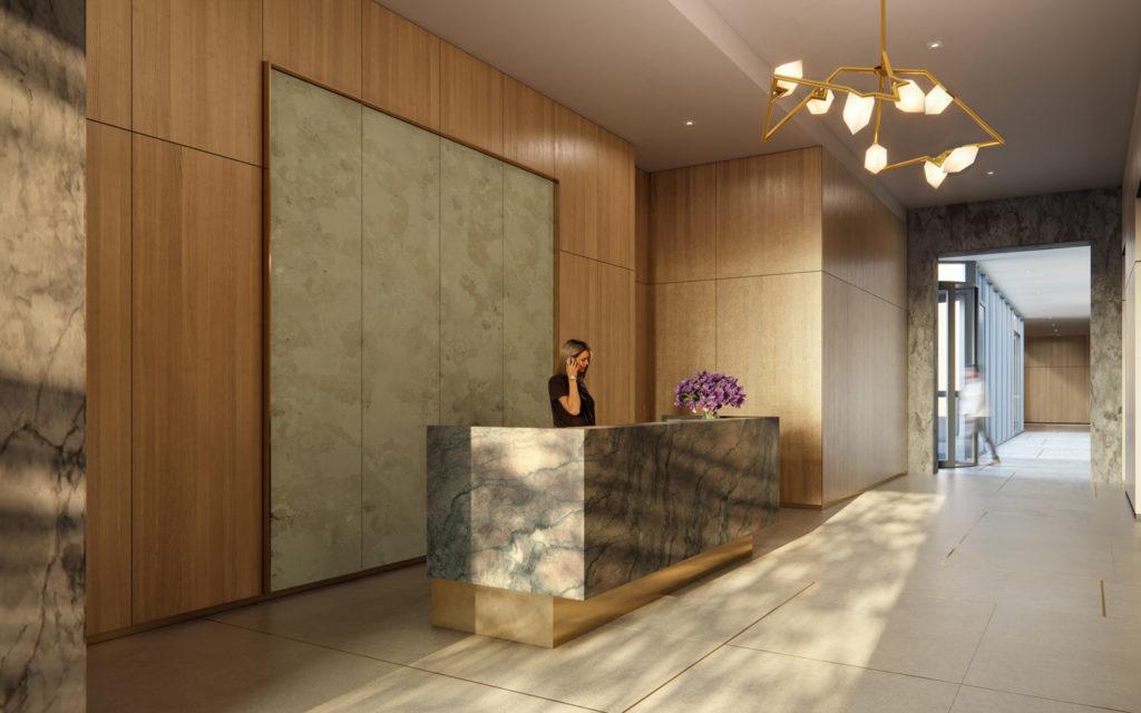 GALERIE Lobby, Renderings by Binyan Studios