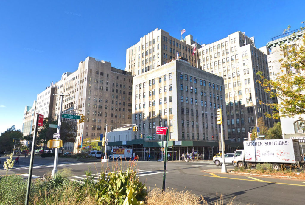 New York Presbyterian hospital facilities, via Google Maps