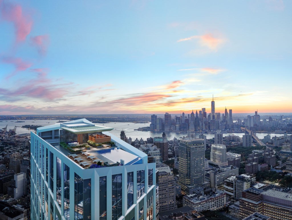 Rooftop terrace, rendering by Williams New York