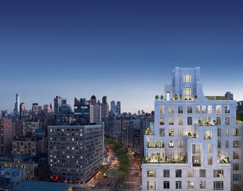 Top of 250 West 81st Street, rendering by Williams New York, design by Robert A.M. Stern Architects