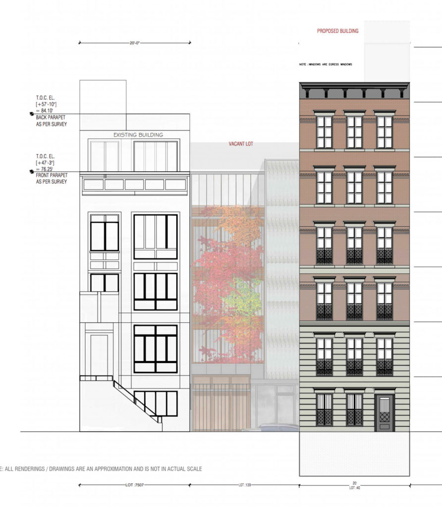 110 West 123rd Street elevation, design by Shahrish Consulting