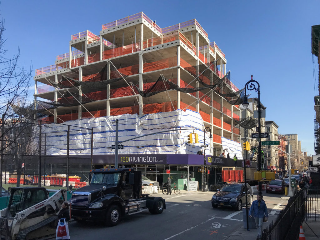 150 Rivington topped out, image courtesy GLUCK+