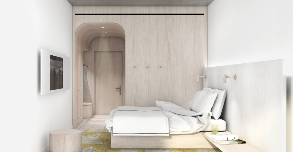 1548 Bedford Avenue bedroom, rendering courtesy ODA Architects