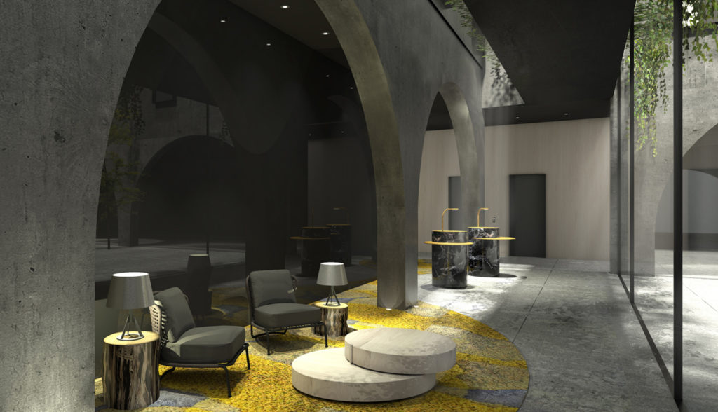 1548 Bedford Avenue lounge space, rendering courtesy ODA Architects